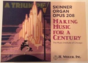 Skinner Organ Opus 208 Poster